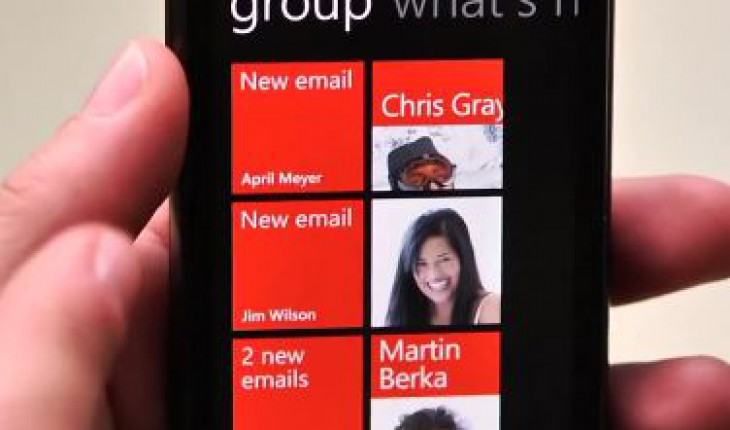 Gruppi in Windows Phone Mango