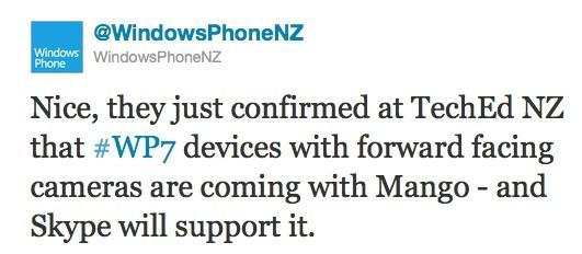 Skype e Windows Phone Mango