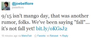 Joe Belfiore Twitter