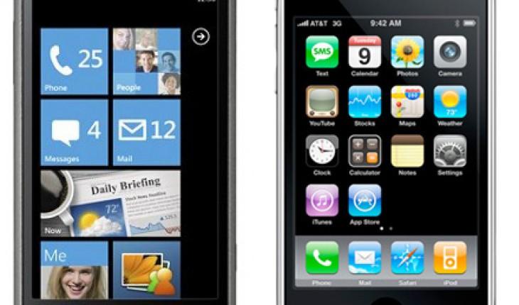 Omnia 7 ed iPhone 3GS