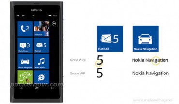 Font Nokia Pure su Windows Phone