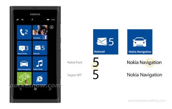 Font Nokia Pure su Windows Phone