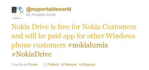 Nokia Drive per tutti i Windows Phone