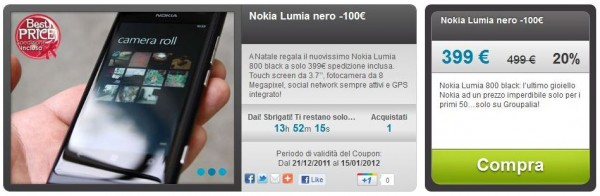 Lumia 800 su Groupalia