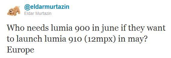 Eldar Murtazin su Nokia Lumia 910