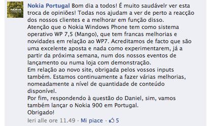 Nokia Portogallo Facebook Page