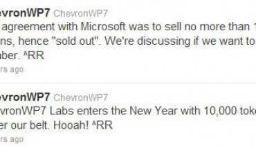 ChevronWP7 Labs tweet