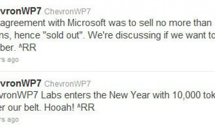 ChevronWP7 Labs tweet