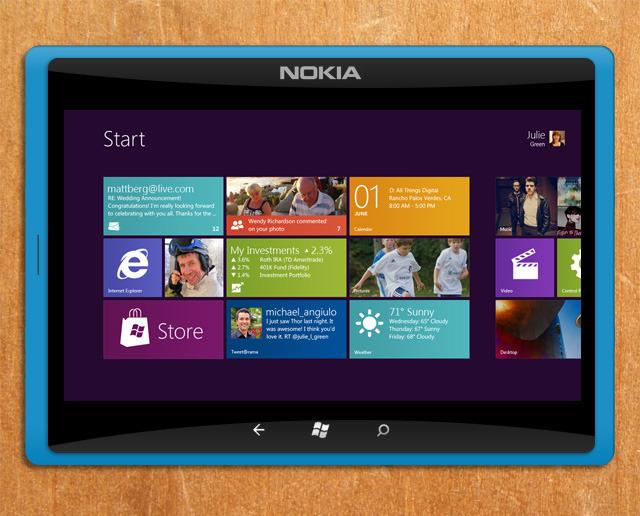 Concept Nokia Tablet Windows 8