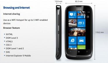Lumia 610 Condivisione via Internet