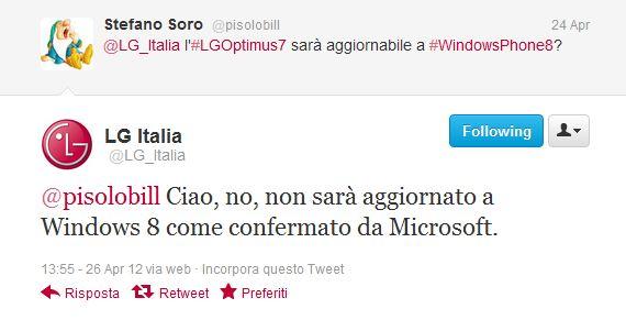 LG Italia Tweet