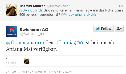 Lumia 900 in Europa