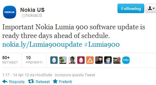 Nokia US Lumia 900 update
