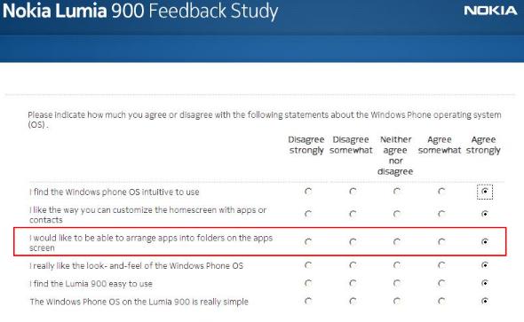 Questionario Nokia