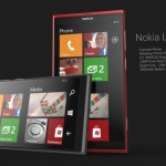 Nokia Lumia 920 Concept grey and red