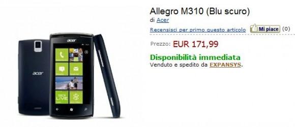 Acer Allegro su Amazon