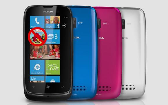 Angry Birds Nokia Lumia 610