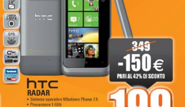 HTC Radar in offerta