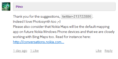 Commento Nokia Coversations