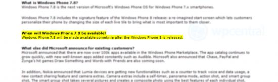 Update a Windows Phone 7.8