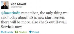 Ben Lower Tweet