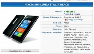 Nokia Lumia 900 a 478,6 Euro sul sito Stockinformatica