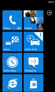 Nokia Drive 3.0 - Tile in Startscreen