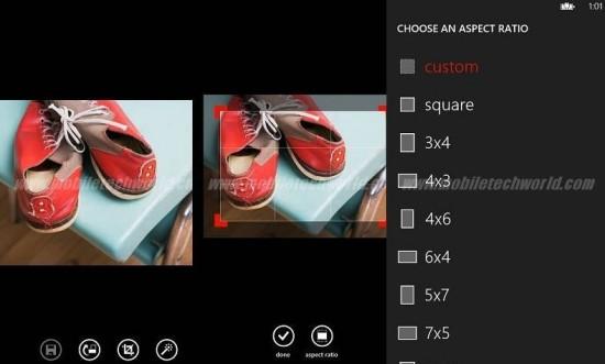 Hub Foto - Opzioni di modifica delle immagini