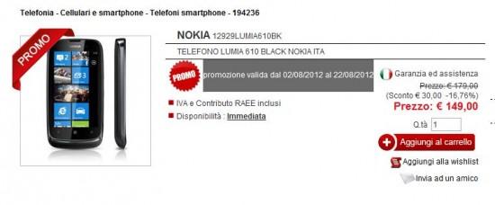 Nokia Lumia 610 in offerta da Eldo