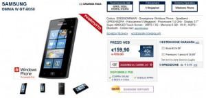 Samsung Omnia W in offerta da Unieuro