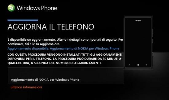 Aggiornamento Nokia Lumia 900