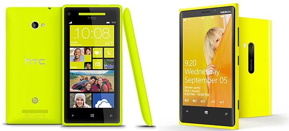 HTC 8X e Nokia Lumia 920