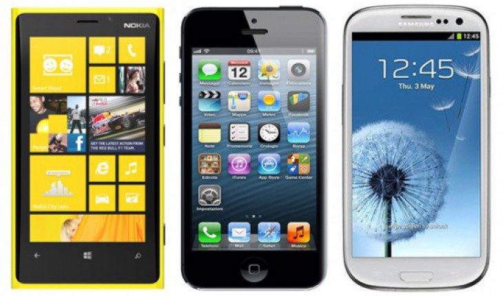 Nokia Lumia 920 vs iPhone 5 vs Samsung Galaxy S3