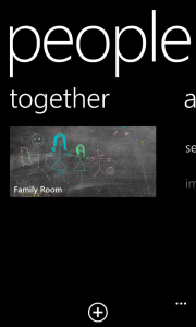 """Rooms"" in Windows Phone 8"