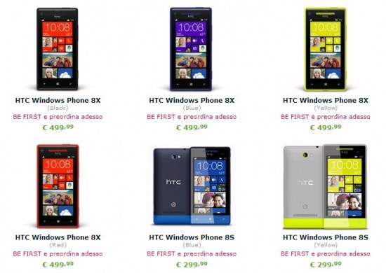 HTC 8X e HTC 8S su Expansys.it