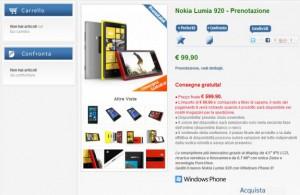 Lumia 920 prenotazione