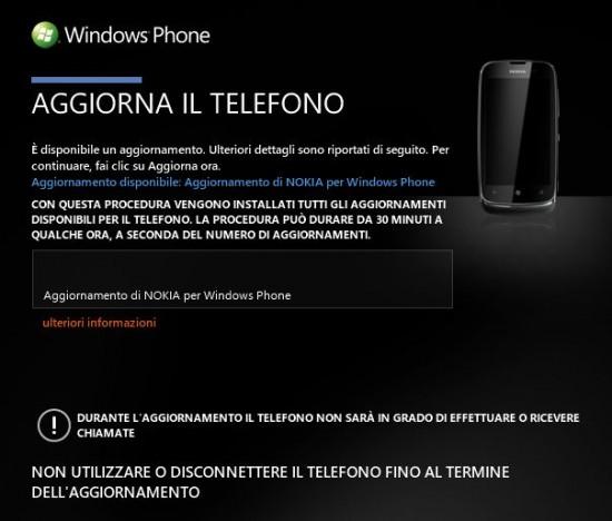 Nokia Lumia 610 - update firmware 1066.0000.8779.12340