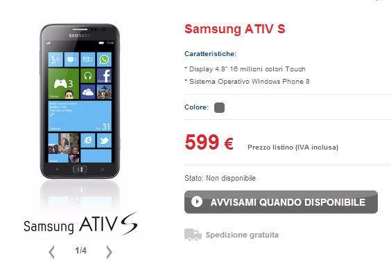 Samsung Ativ S TIM
