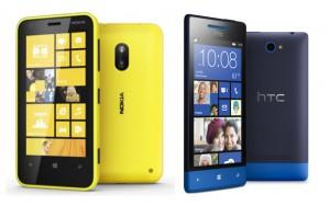 Nokia Lumia 620 vs HTC 8S