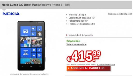 Nokia Lumia 820 su redcon.it