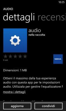 Update Audio per WP8