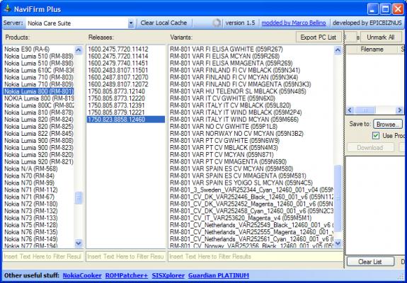 WP 7.8 on Navifirm