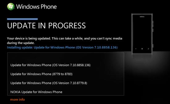 Nokia Lumia 800 - Update a WP7.8