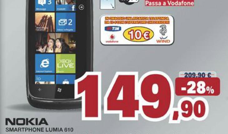 Nokia Lumia 610 a 149 Euro nei negozi Unieuro