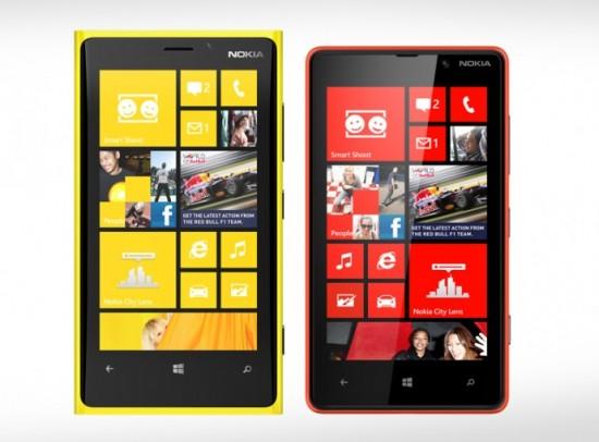 Nokia Lumia 920 e Nokia Lumia 820
