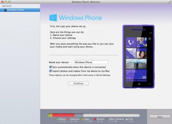 Windows Phone per Mac