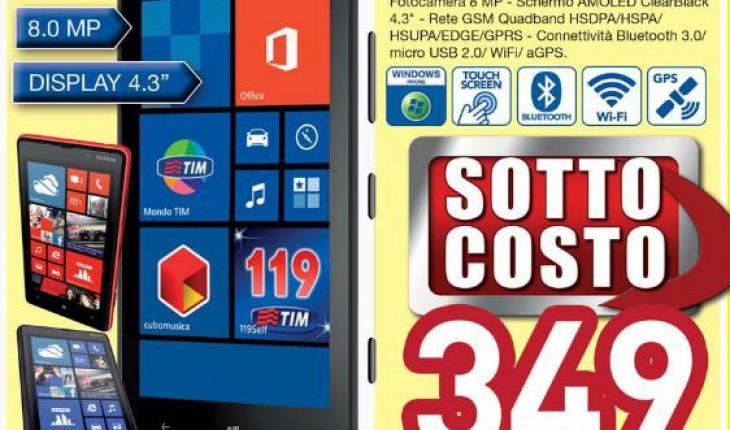 Nokia Lumia 820 TIM in Offerta