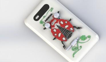 Cover Nokia Lumia 820 con auricolari