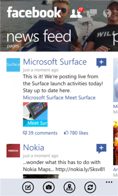 Facebook app per Windows Phone 8