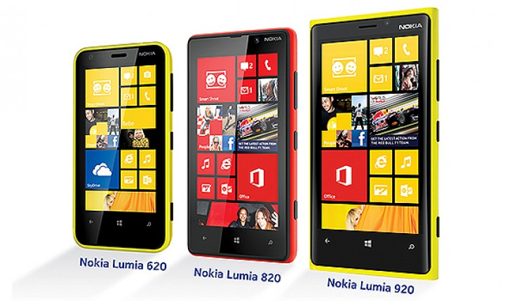 Nokia Lumia 920, 820 620